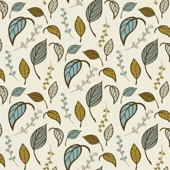 Diseño de patrón colorido de hojas