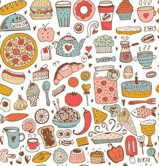 Diseño de patrón comida