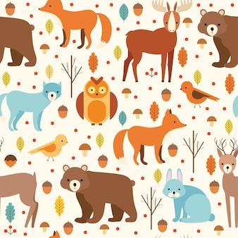 Diseño de patrón de animales