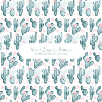 Diseño de patrón de cactus