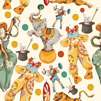 Diseño de patrón de circo
