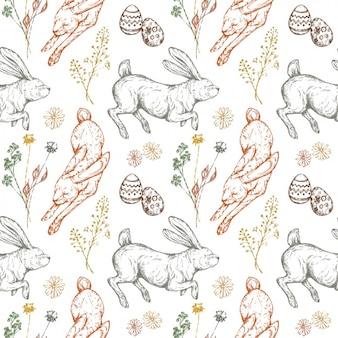 Diseño de patrón de conejos