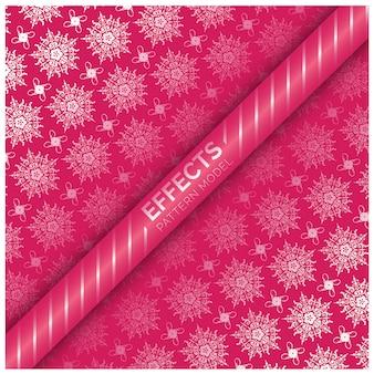 Diseño de patrón de copos de nieve