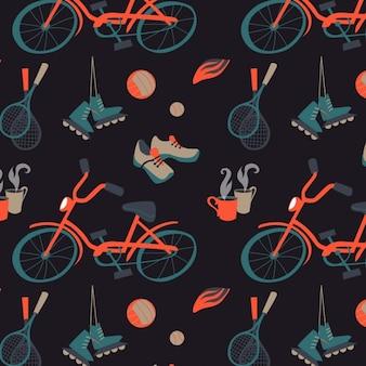 Diseño de patrón de deportes