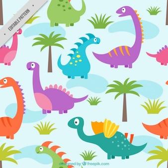 Diseño de patrón de dinosaurios