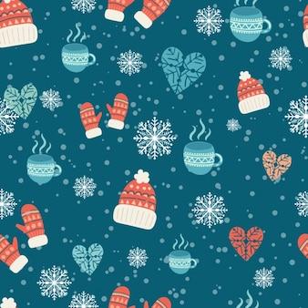 Diseño de patrón de invierno