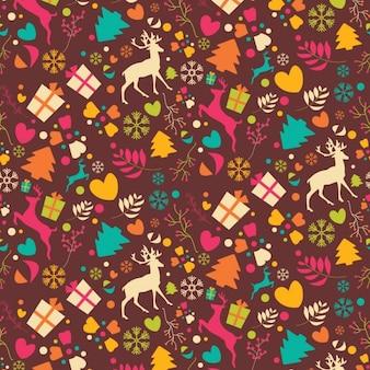 Diseño de patrón de navidad