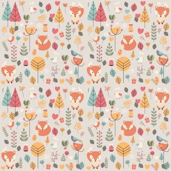 Diseño de patrón de otoño