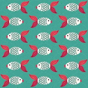 Diseño de patrón de peces