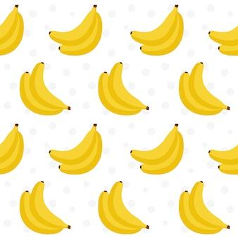 Diseño de patrón de plátanos