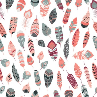 Diseño de patrón de plumas