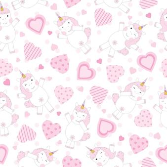 Diseño de patrón de unicornio