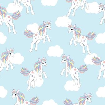 Diseño de patrón de unicornios