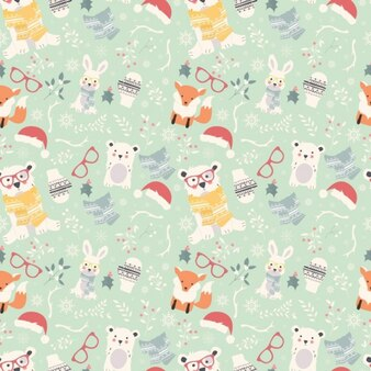 Diseño de patrón navidad