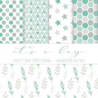 Diseño de patrón pintado a mano