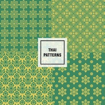 Diseño de patrones thai abstractos