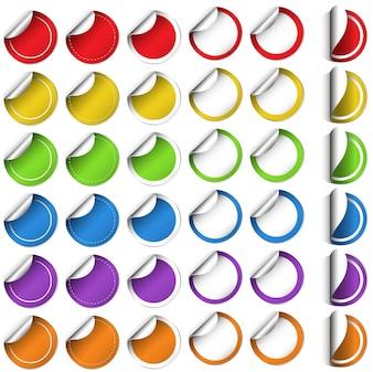 Diseño de pegatina en forma redonda