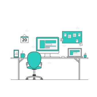 Diseño de plano de espacio de trabajo