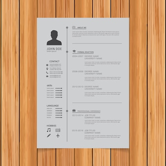 Diseño de plantilla de curriculum