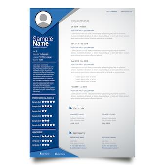 Diseño de plantilla de currículum