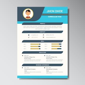 Plantilla de currículum vitae editable   Descargar PSD gratis
