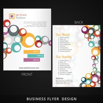 Diseño de plantilla de flyer con círculos coloridos