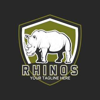 Diseño de plantilla de logo de rinoceronte