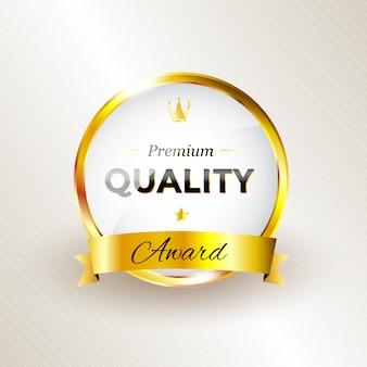 Diseño de premio de calidad