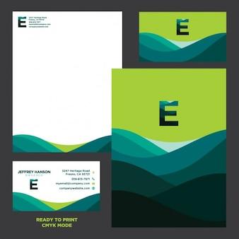 Diseño de presentación de papelería