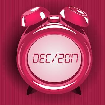 Diseño de reloj despertador rosa