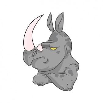 Diseño de rinoceronte a color