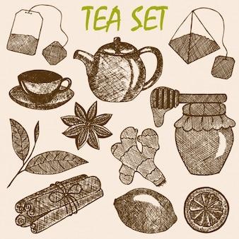 Diseño de set de té