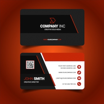 Diseño de tarjeta d visita