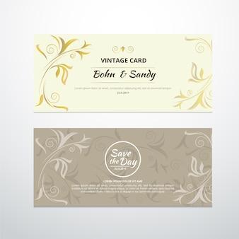 Diseño de tarjeta de boda