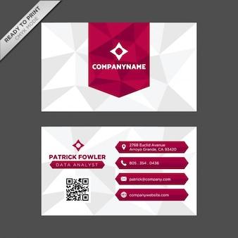 Diseño de tarjeta de visita con formas poligonales