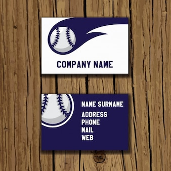 Diseño de tarjeta de visita de béisbol