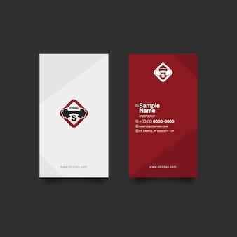 Diseño de tarjeta de visita de fitness