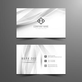 Diseño de tarjeta de visita ondulado gris