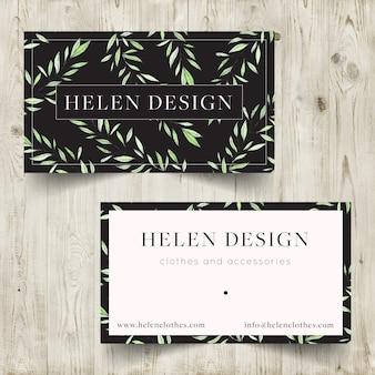 Diseño de tarjeta de visita para tienda de ropa