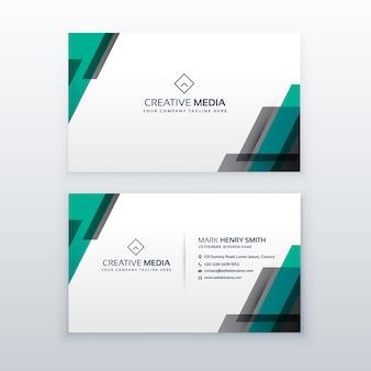 Diseño de tarjeta de visita profesional limpio