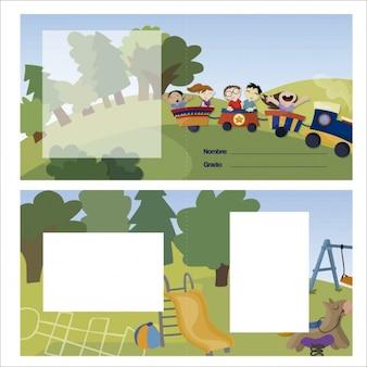 Diseño de tarjeta infantil