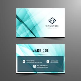 Diseño de tarjeta ondulado elegante elegante de negocios