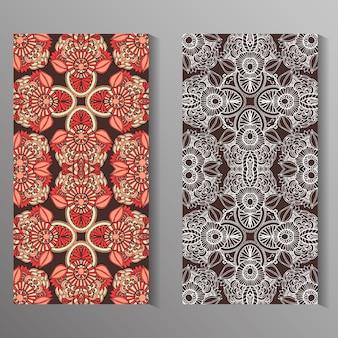 Diseño de tarjetas de mandala