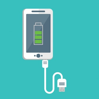 Diseño de teléfono móvil cargando