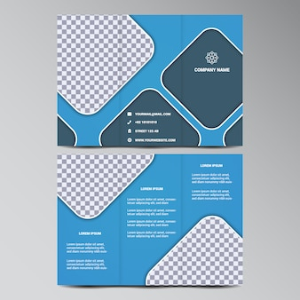 Diseño de tríptico a color