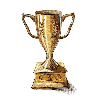 Diseño de trofeo de oro
