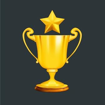 Diseño de trofeo dorado