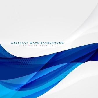 Diseño de vector de onda azul del asunto