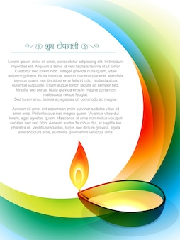 Diseño de vela para diwali con espacio para texto