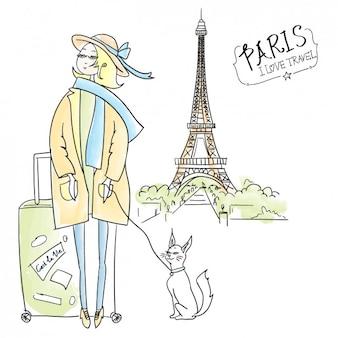 Diseño de viajes dibujado a mano